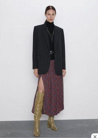 Falda estampado de flores Zara
