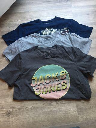 Pack 3 camisetas hombre talla M