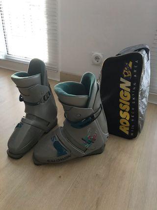 Botas esquí + bolsa