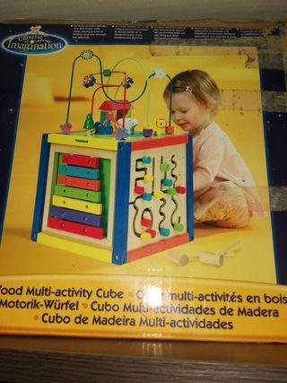 cubo madera multiactividades