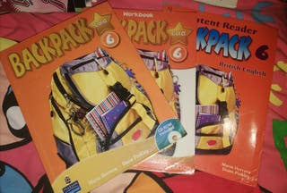 Pack 3 libros Inglés 6 Primaria Backpack PEARSON