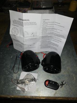 Radio alarma para moto