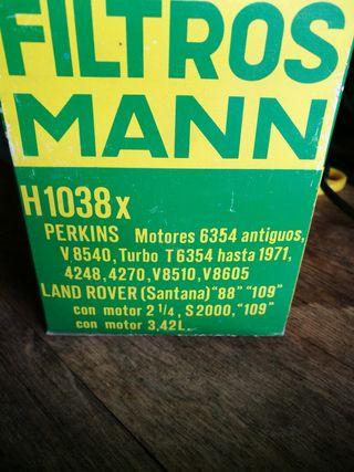 filtro aceite H1038X