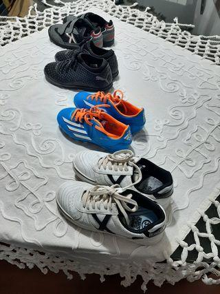 LOTE Zapatillas y Botas fútbol.