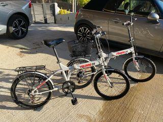 2 bicicletas plegables Folding 20