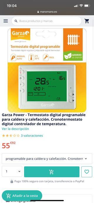 Termostato caldera digital programable Garza
