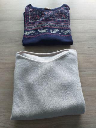 2 jerseys mujer talla L buen estado