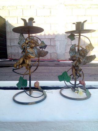 candelabros de cobre