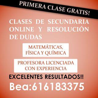 CLASES SECUNDARIA ONLINE