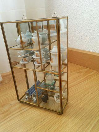 Armario vitrina cristal miniaturas decorativo