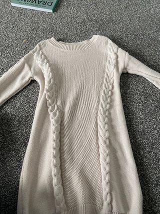 White knit dress