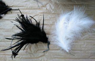 Tocados de plumas para sombrero.