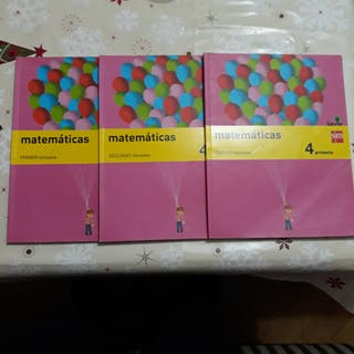 LIBROS DE MATEMÁTICAS. 4 DE PRIMARIA. 3 TRIMESTRE