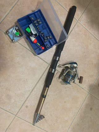 Caña de pescar y accesorios