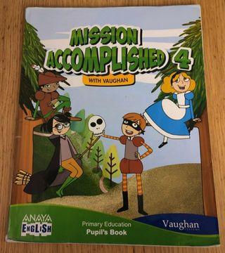 Libro de inglés para 4° de primaria