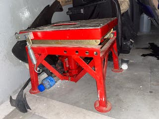 Caballete hidráulico moto elevador de tijera