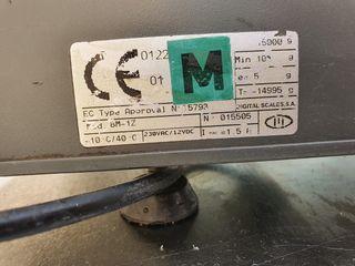 Bascula con ticket 15 kg