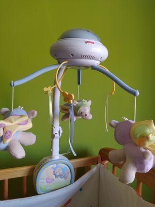 Carrusel móvil de cuna bebes