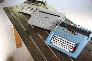 lote 3 maquinas escribir antiguas