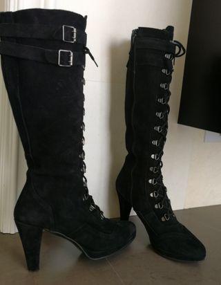 botas altas y