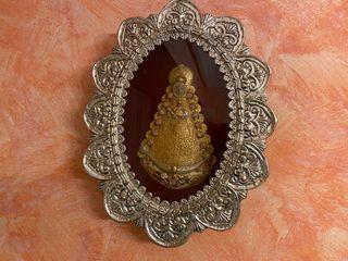 Relicario Virgen del Rocío plateado