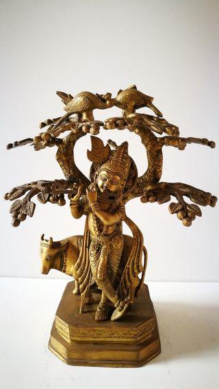 Árbol de la vida. Figura china de bronce. Escultur