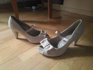 Zapatos Tacón Beige 38