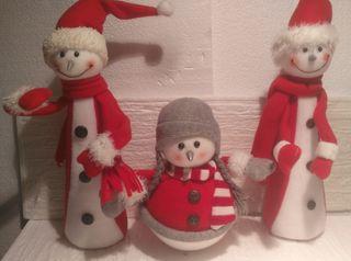 Lote 3 de muñecos decoración Navidad