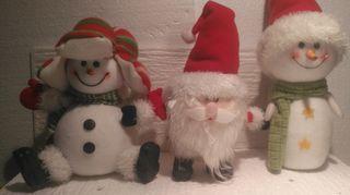 Lote de muñecos decoración Navidad