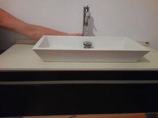 Mueble baño suspendido + espejo