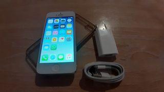 iPhone 5 16Gb, libre, cable, cargador. Bat. 100%