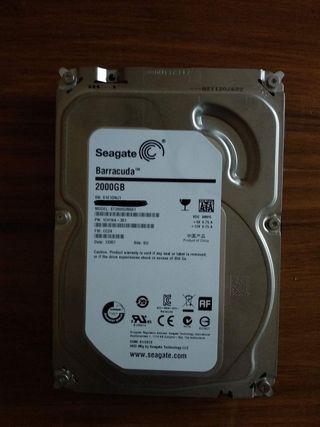 Disco duro 2 TB . Seagate