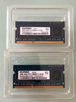 4 GB (2 x 2 GB) RAM MAC PC3 DDR3