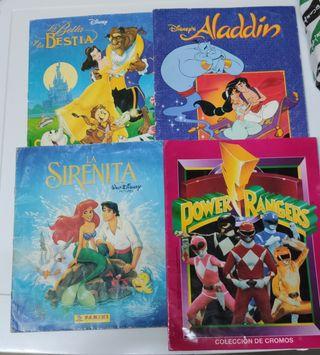 álbumes Disney y power Ranger.