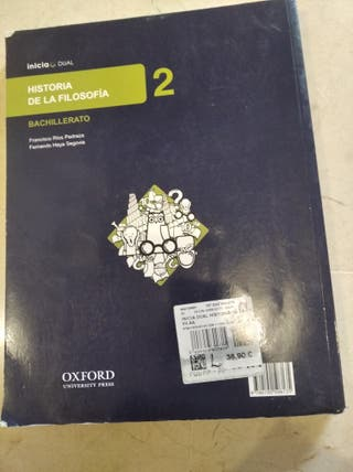 Libro de Historia de la Filosofía 2 bachillerato