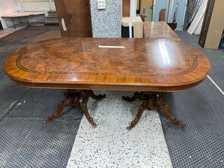 Mesa de madera doble patas