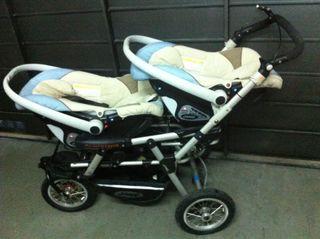 Jane. Bebé carrito gemelar de paseo