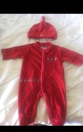 Pijama bebe con gorro 1-3 meses