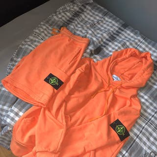Stone island hoodie orange