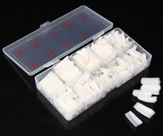 caja uñas blancas acrílicas 500 unidades