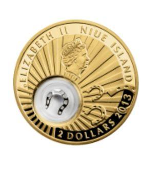 Moneda de plata Niue 2013 - Suerte- Herradura