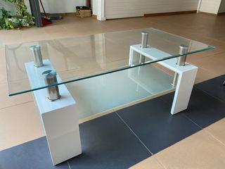 Mesa recibidor oficina cristal