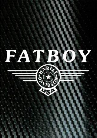 Pegatina Harley Davidson Fat boy
