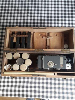 Ametralladora de fotos antigua Facine