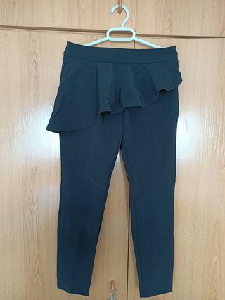 pantalón zara azul marino