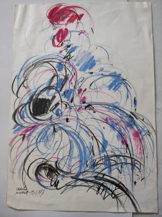 Dibujo original del pintor Obdulio Fuertes