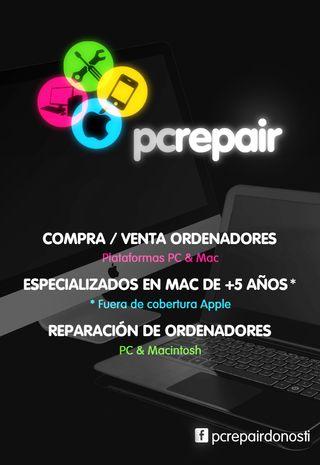 PCRepair - Reparacion y compraventa MacBook / PC