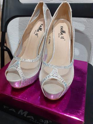 Zapatos tacones de fiesta sin estrenar talla 37