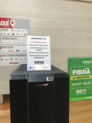 PC GAMING RYZEN 7 3700X 16GB RAM M2 GTX 1660