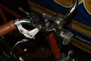 Bicicleta paseo fixie freno trasero contra pedal